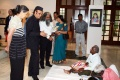 Dr. Jutta Stefan-Bastl, Karan Singh and Y. S. Rajan are interacting with the students