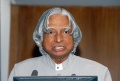 Indian President Mr. A.P.J. Abdul Kalam on stage.