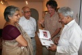 Werner Dornik with C. K. Shah the Former governor of the Rotarys in Utah Pradesh look at the BINDU-Book