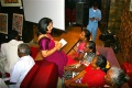 Mahitha getting some information from the students