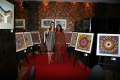 Dagmar & Padma surrounded by Bindu paintings