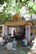 Workshop at the Temple of Bharathapuram