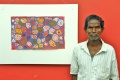 Subramani and his painting