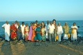 Group-picture at the sea of Pondichery