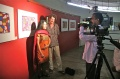 Padma and Werner giving a statement about the project to the National TV Doordarshan