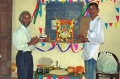 Coordinator N. Ramachandran and Udaykumar celebrating the Ayutha Puja
