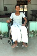 Damodaran has got an electric wheelchair