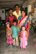 Uday Kumar with his daughter, son in law and his grandchildren