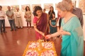 Sunita Kumar lights the lamp