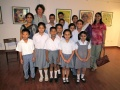 Several classes of deaf and dumb schoolchildren from Kolkatta visit the exhibition