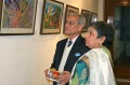 Guests amazed about some Bindu artworks