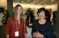 Dagmar Vogl with designer Nirmala Rudra at Art Summit