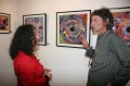 Neelam Misal and Werner Dornik at the Bindu Gallery, Art Summit