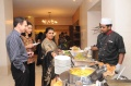 Sharan Apparao, Apparao Galleries, at the buffet