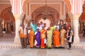 Students with Werner Dagmar and Padma in the Diwan-I-Khas of the City Palace