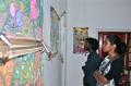 The poet Amala from Trivandrum looks at the painting