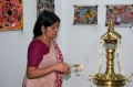 Lighting of lamps - Princess of Travancore Gauri Parvathi Bayi