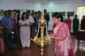 Princess of Travancore Gauri Parvathi Bayi lights the lamps