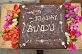 Bindu Happy Birthday cake sponsered by Tia Pleiman