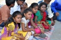 Children from Bharathapuram joining the Bindu birthady celebration