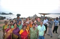 Dagmar Vogl and Werner Dornik with bindu artists at the sunset point at Kanyakumari