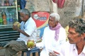 Ravichandran Munusami and Udayakumar enjoying their coconut