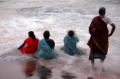 Bindu artists enjoying the sea at Vivekananda Kendra in Kanyakumari 1
