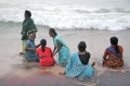 Bindu artists enjoying the sea at Vivekananda Kendra in Kanyakumari 3