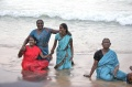 Splish splash Poongodai Uma Radha and Malligai are taking a bath at Kanyakumari