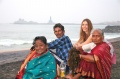 Dagmar Vogl with Sundari, Udayakumar and Rajeswari enjoying the sea and sunrise at Vivekananda Kendra in Kanyakumari 3