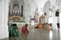 Bindu-Art School Artists praying in Our Lady of Randsom Church, Kanyakumari
