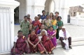 Dagmar Vogl and Werner Dornik with Bindu-Art School Artists infront of Our Lady of Randsom Church, Kanyakumari