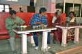 Ballachandran Udayakumar Rajeswari and Desammal enjoying their meal