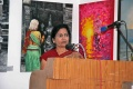 Padma Venkataraman giving a speech