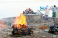 Burning place at Ganga