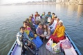 Bindu students on the boat
