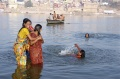 Ladies enjoying the bath in the Ganga