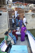 Enter the boat to go back to Assi Ghat