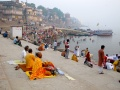 Sanyasis sitting at Assi Ghat