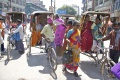 Roaming around with cycle rickshaws