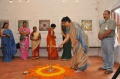 Mrs. Nalini Radhakrishnan light the lamp