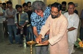 Werner Dornik, Curator & Dr. Dilp Mitra principal Kala Bhawan lighting the lamp
