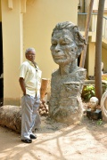 Ravichandran likes the sculptures