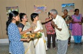 Ramachendran gets the blessing from the Santiniketan Art-students